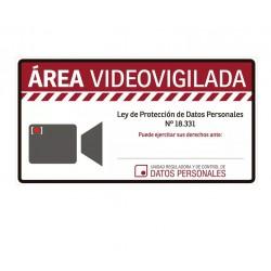 """Cartel Adhesivo de """"Área Video Vigilada"""""""