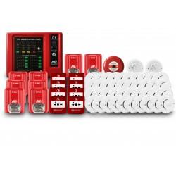 Kit Sistema Incendio Convencional 8 zonas  ASENWARE AWK-CFP2166-8