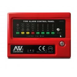 Panel Incendio Convencional 4 zonas con baterías ASENWARE CFP2166-4